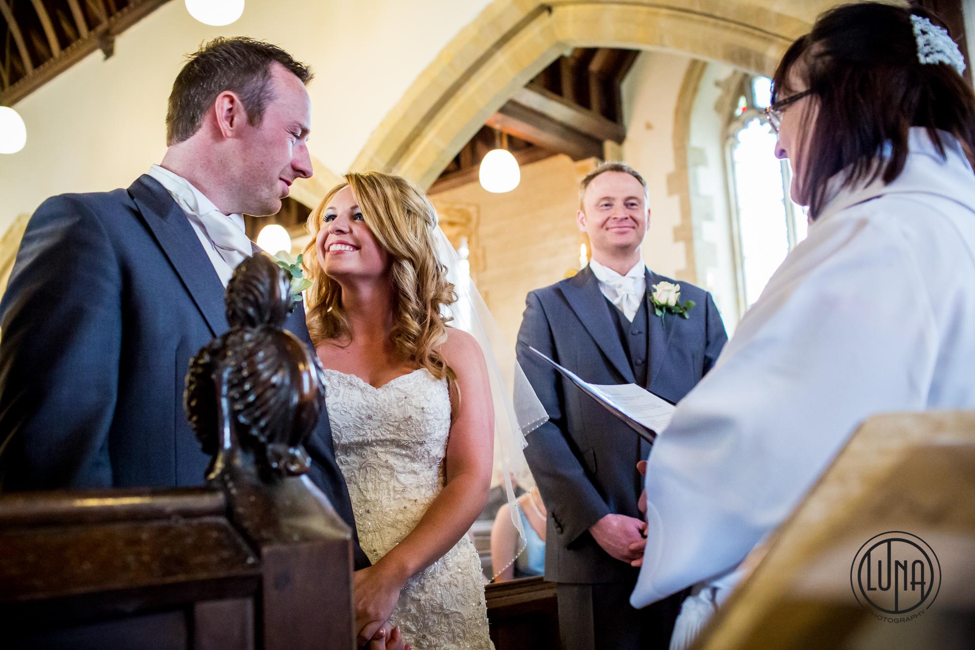 wedding ceremony at huntsham court