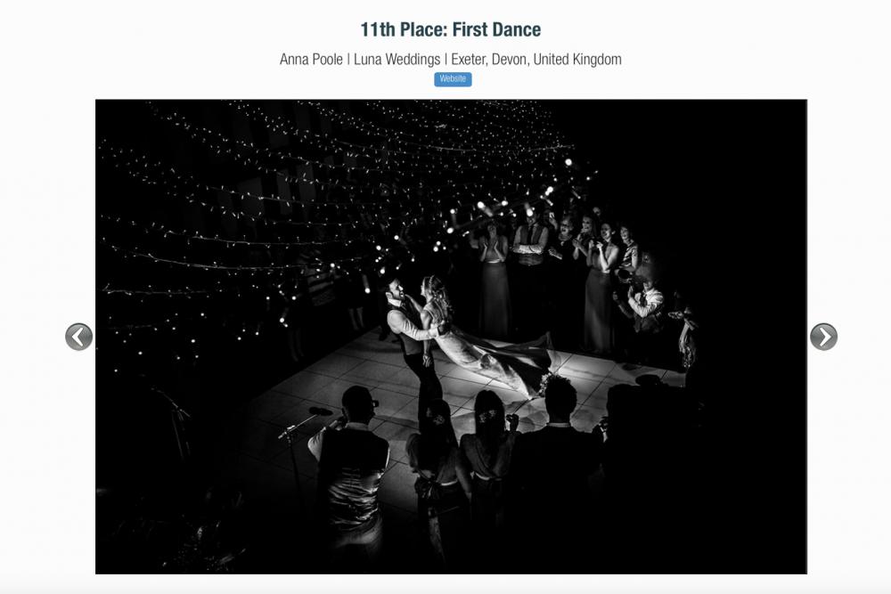 Luna Wedding Photography Devon ISPWP award