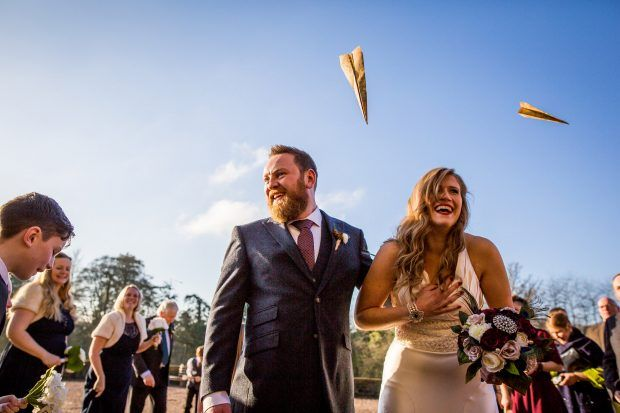 paper plan confetti at huntsham court