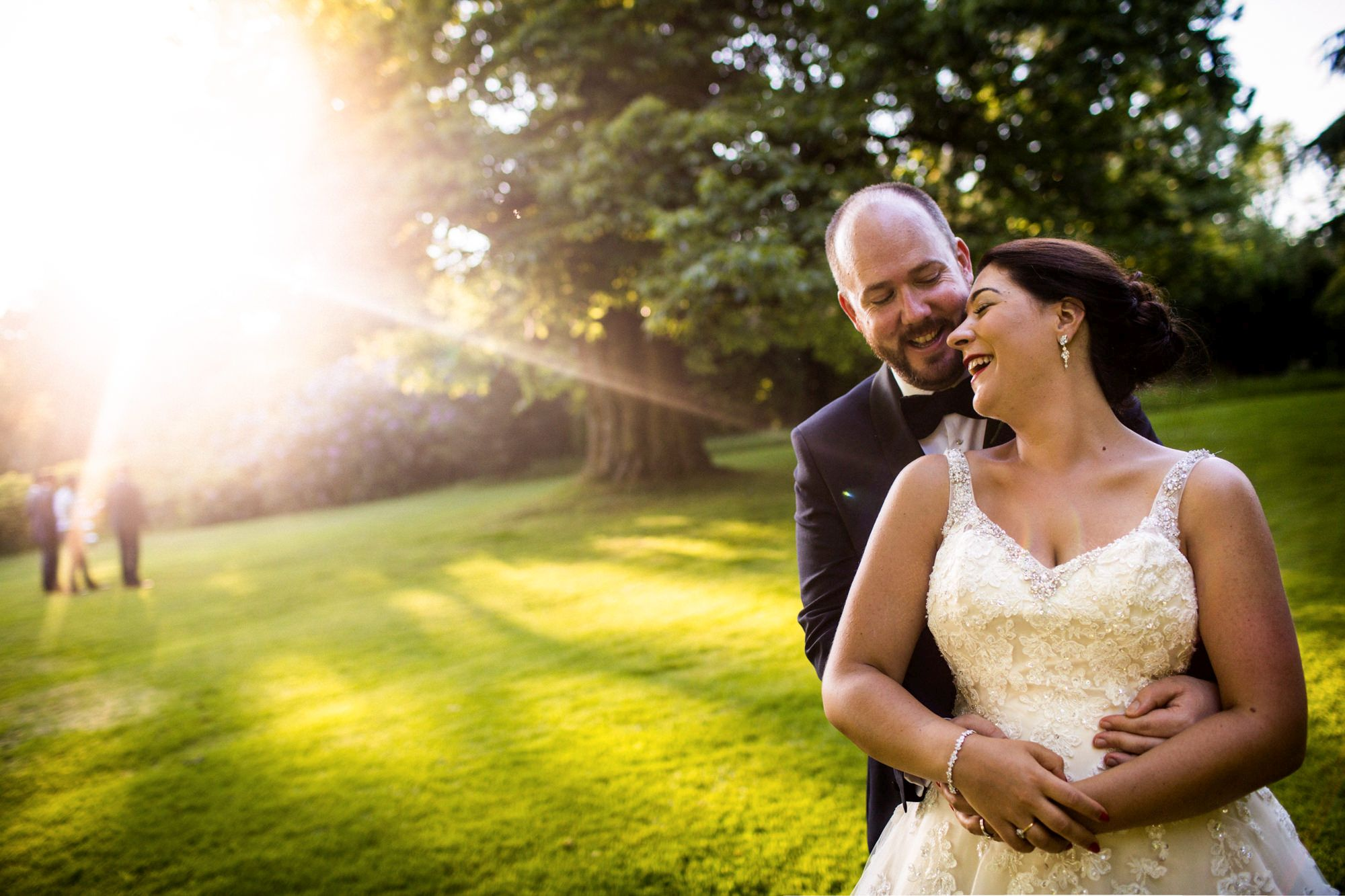 huntsham court wedding with bride and groom